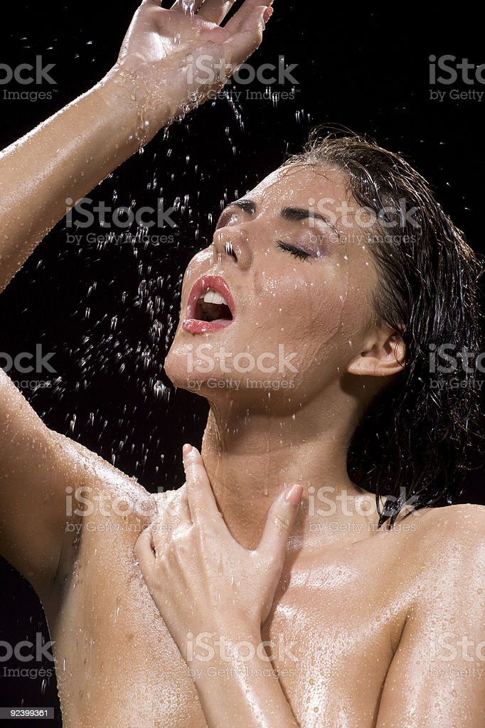wet and happy royalty-free stock photo