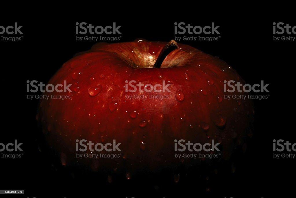 wet apple royalty-free stock photo