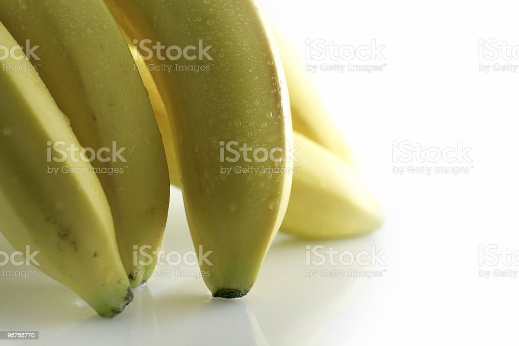 wet bananas royalty-free stock photo