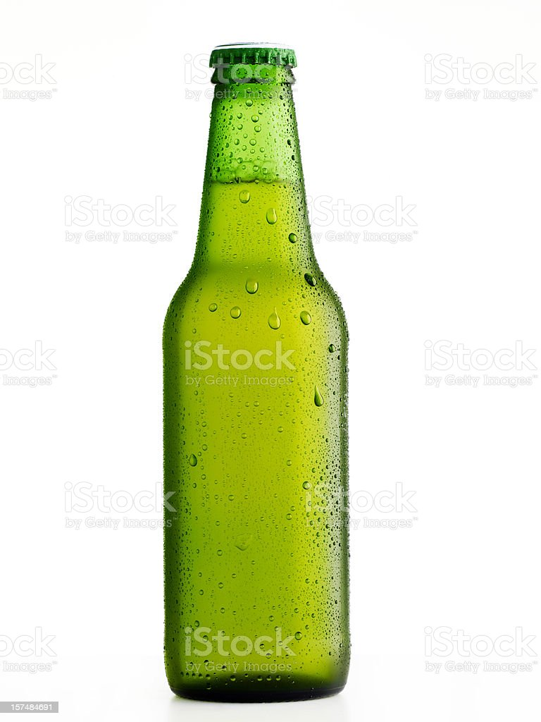 Wet beer bottle royalty-free stock photo