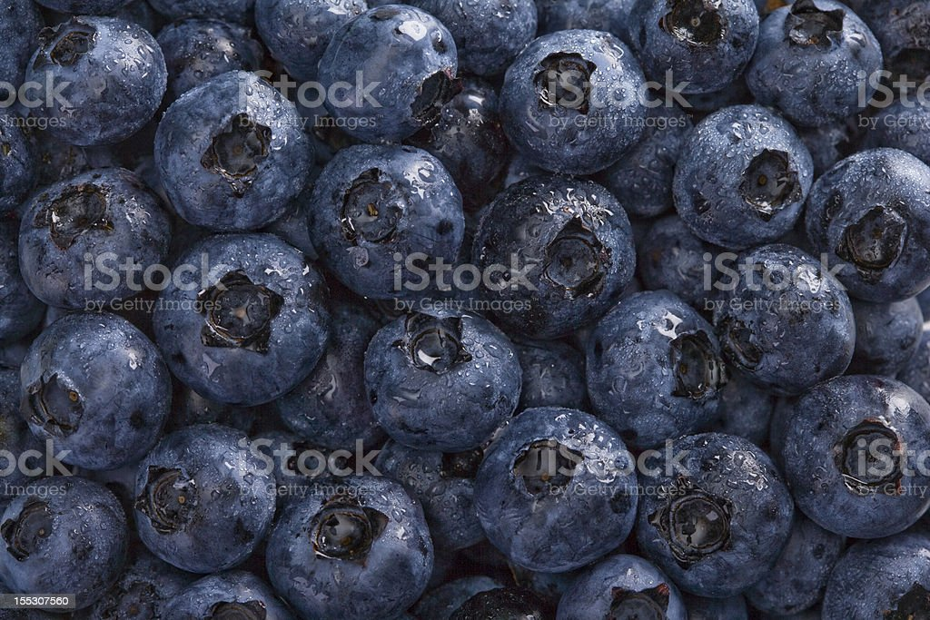 Wet Blueberries Background royalty-free stock photo