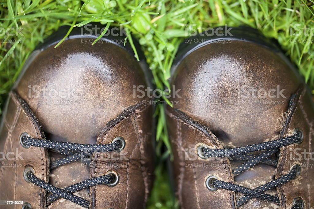 Wet boots royalty-free stock photo