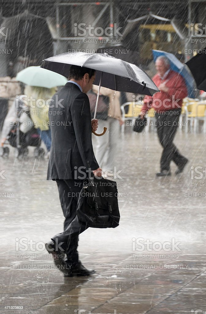Wet business stock photo