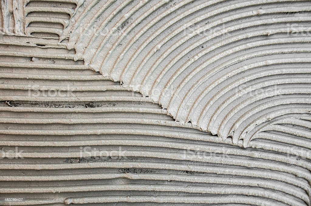 Wet cement stock photo