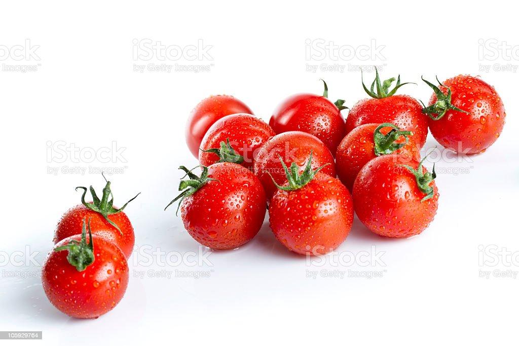 wet cherry tomatoes royalty-free stock photo