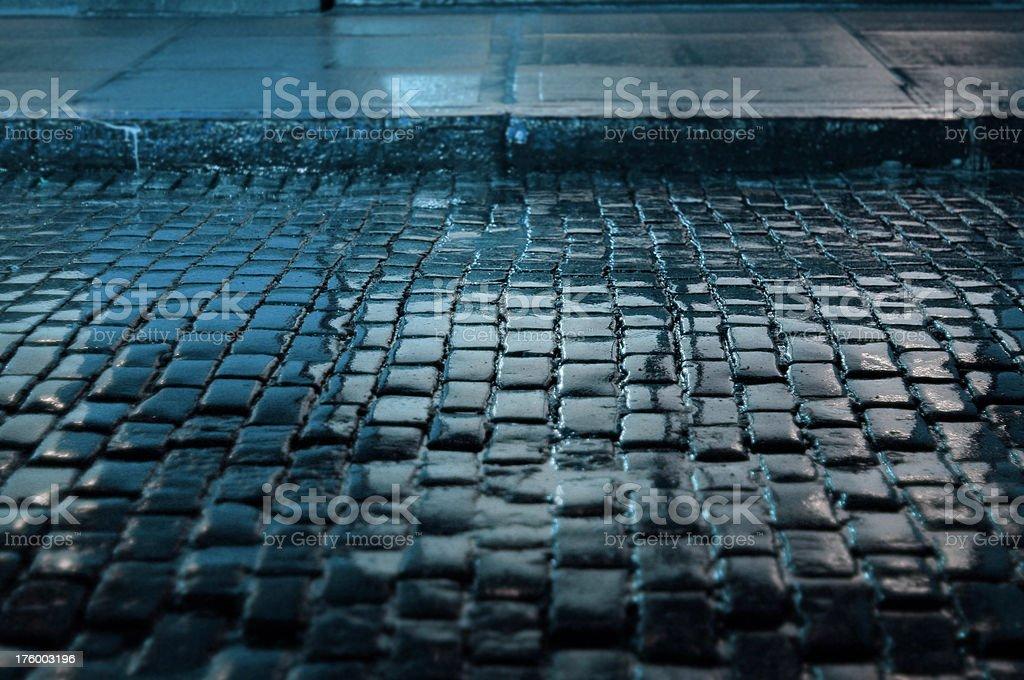 Wet Cobblestones stock photo