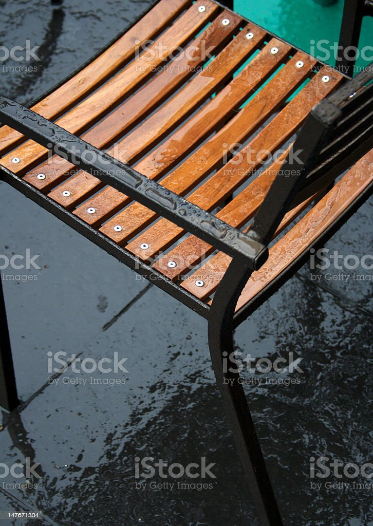 Wet Coffee House Chair stock photo