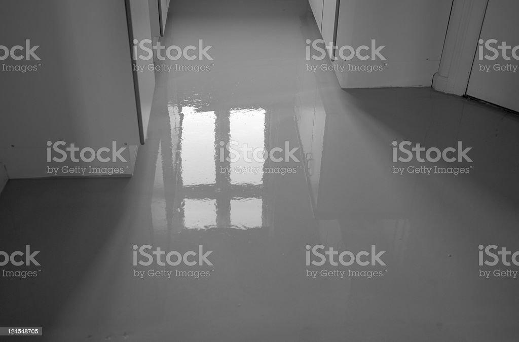 Wet Concrete Floor royalty-free stock photo