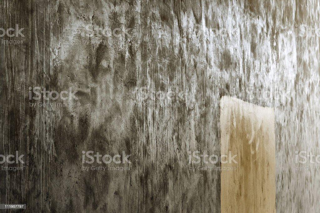 Wet concrete wall stock photo