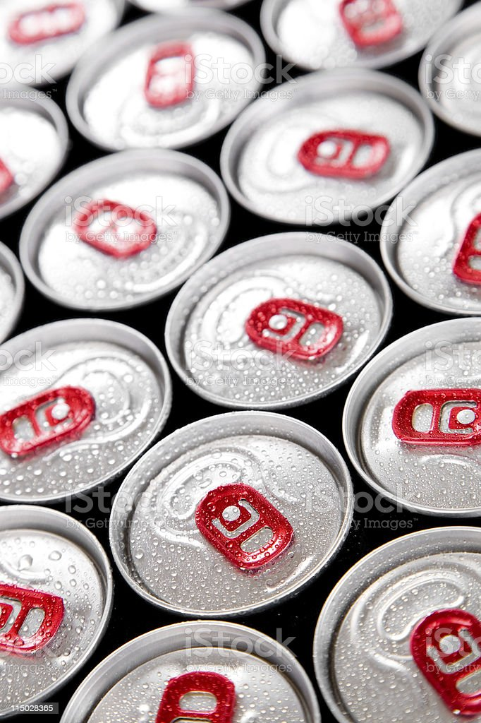 Wet drink cans royalty-free stock photo