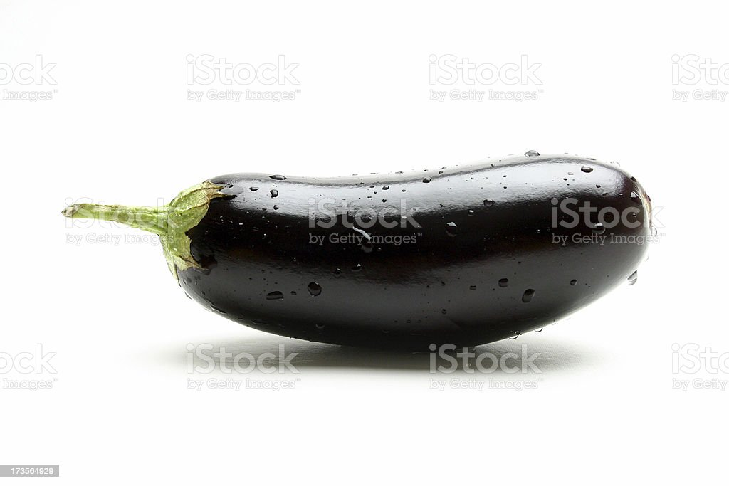 wet eggplant royalty-free stock photo