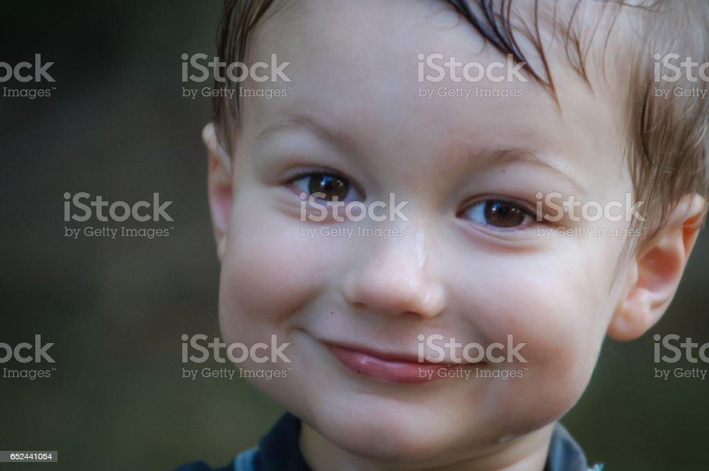 Wet face stock photo