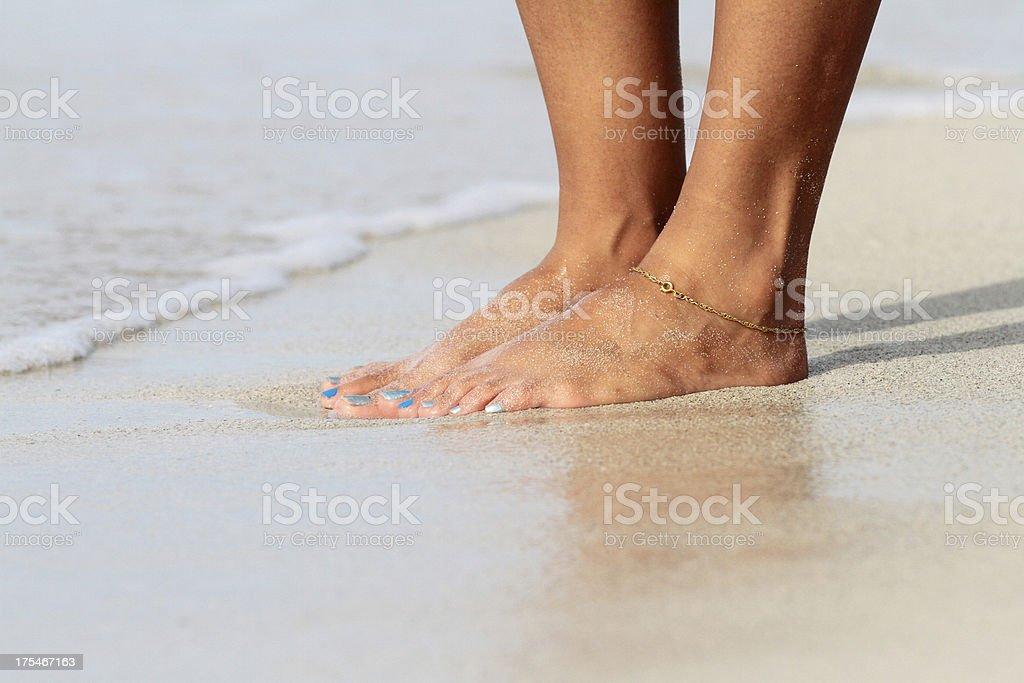 Wet feet stock photo