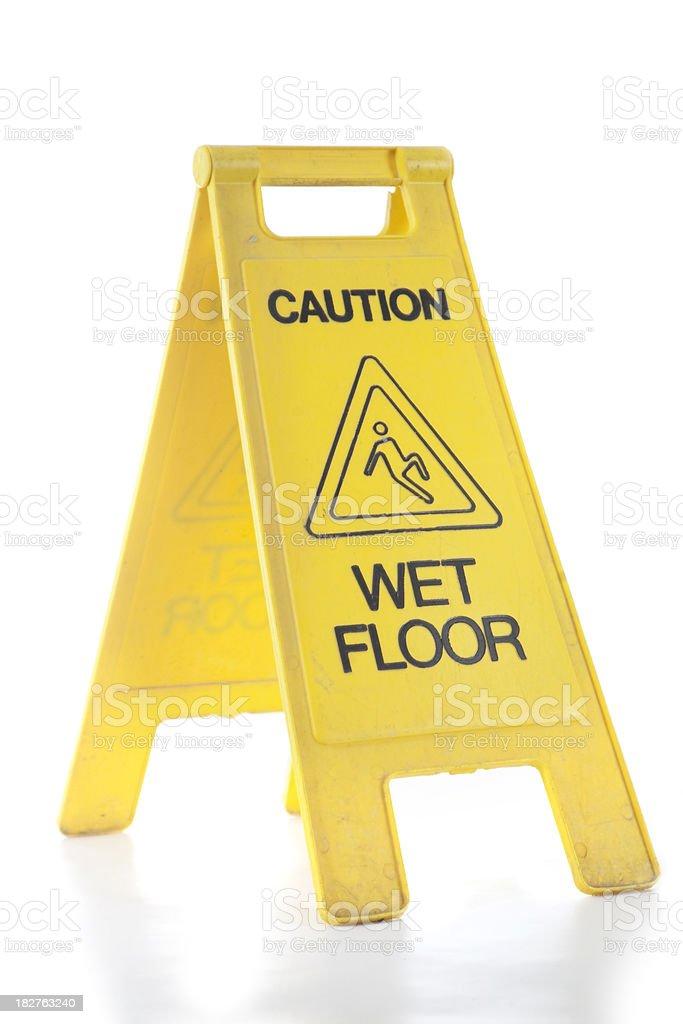 Wet Floor Sign Isolated stock photo
