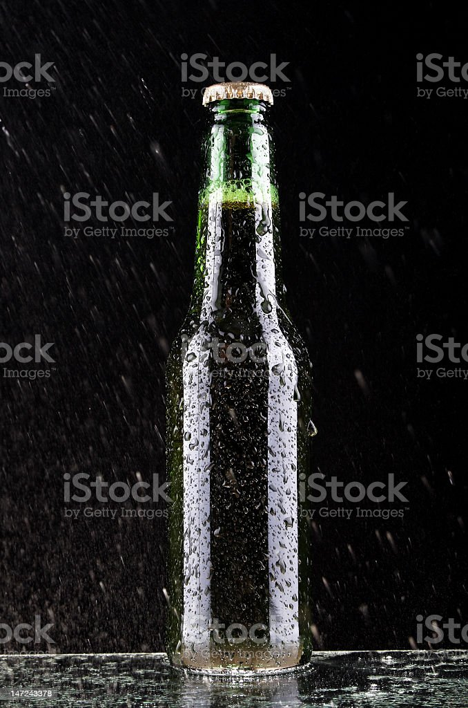 Wet glass of beer royalty-free stock photo