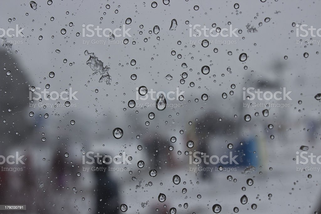 Wet glass royalty-free stock photo