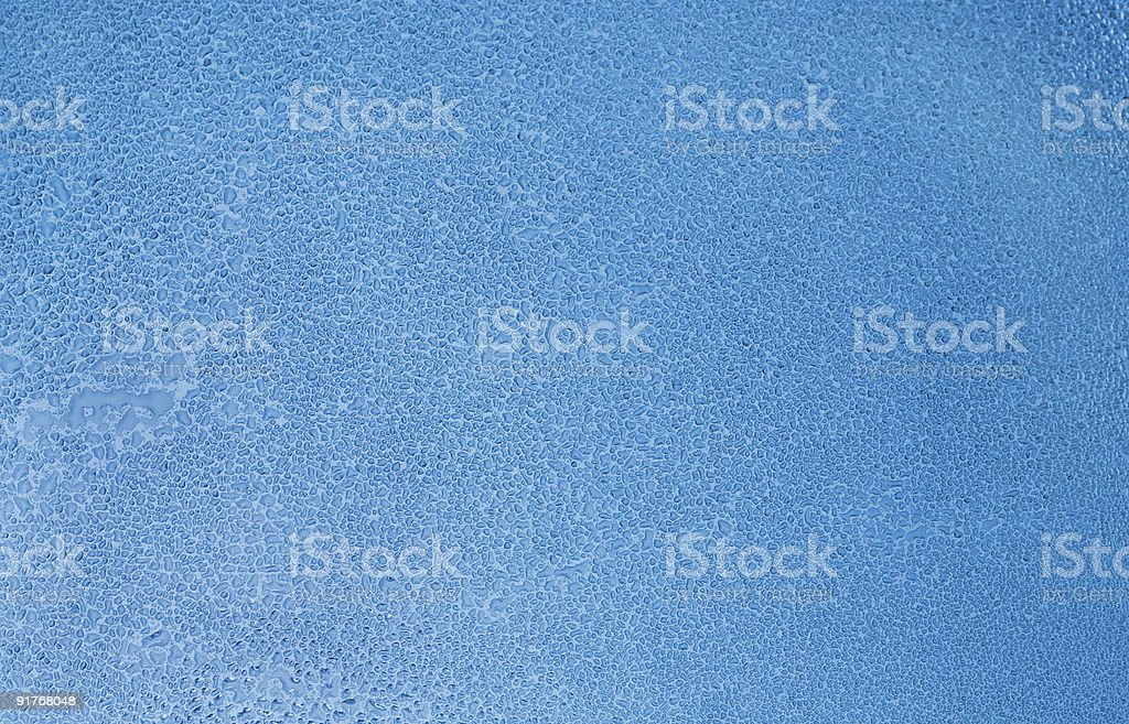 Wet glass with water drops royalty-free stock photo