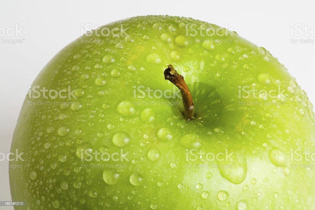 Wet Green Apple stock photo