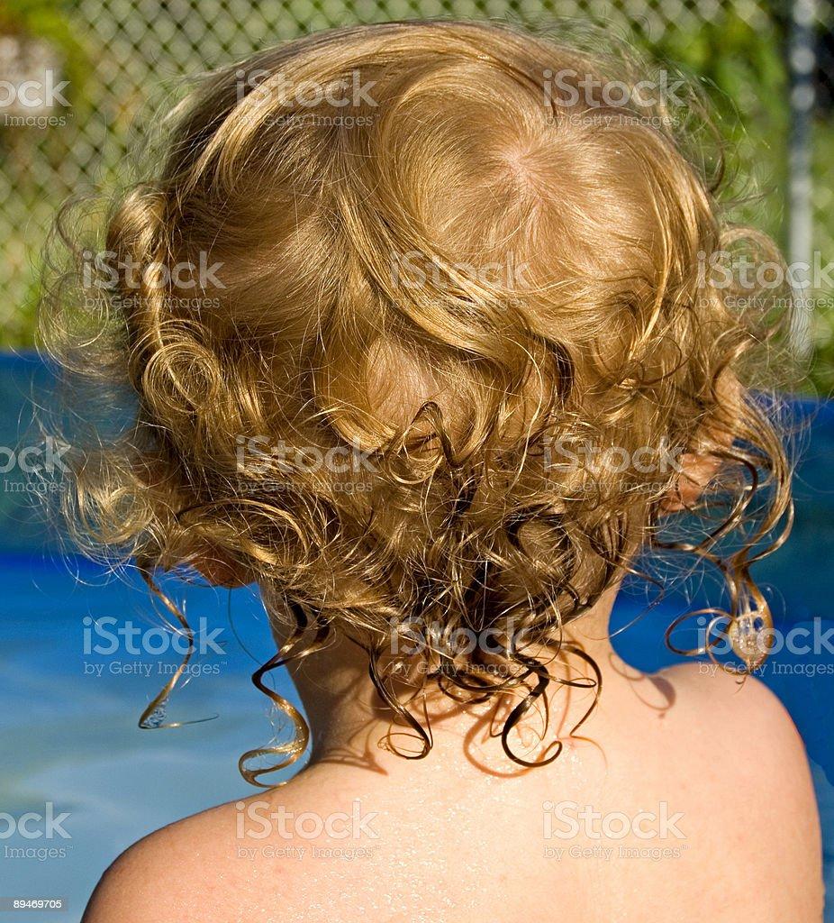 Wet Head royalty-free stock photo