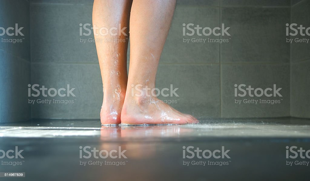 Wet legs stock photo
