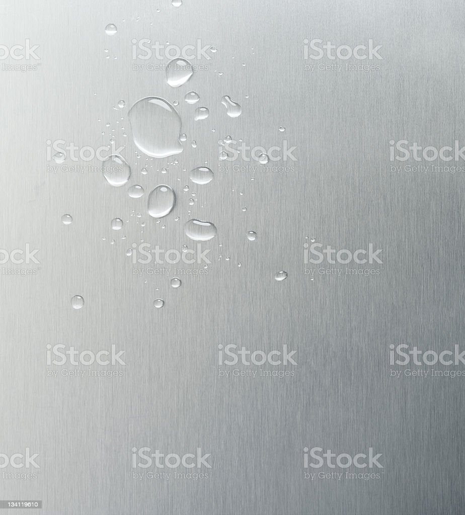 Wet metal background royalty-free stock photo