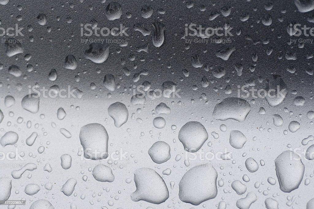 Wet metallic surface royalty-free stock photo
