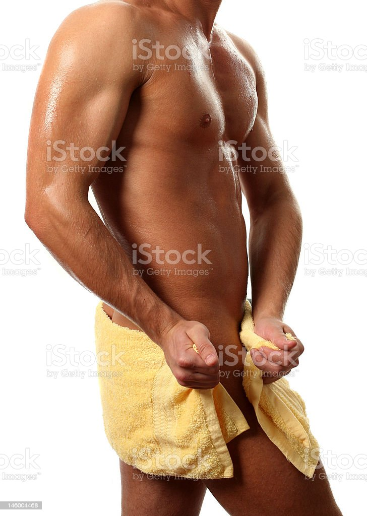 Wet Muscular Torso royalty-free stock photo