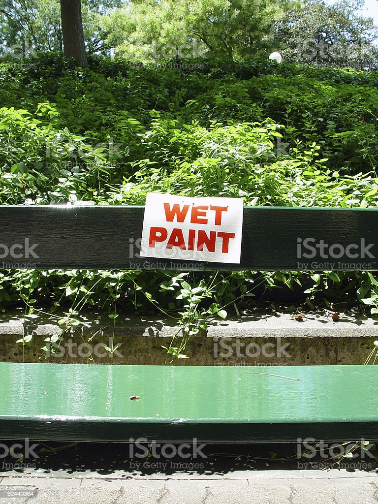 Wet paint sign royalty-free stock photo