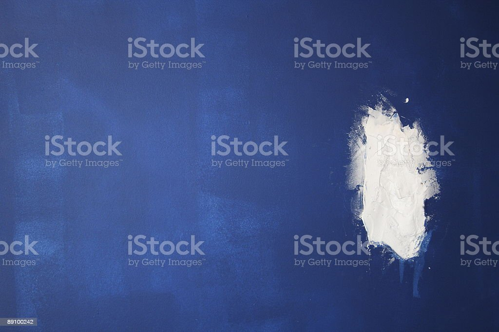 Wet painted wall stock photo
