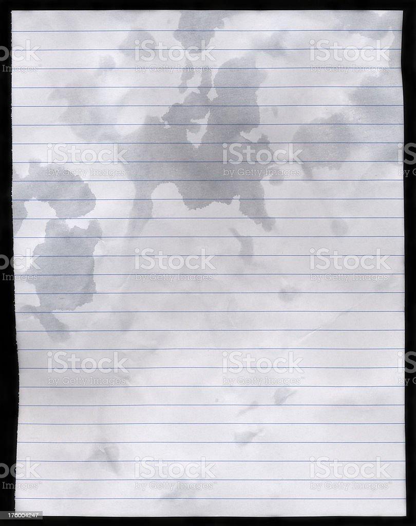 Wet Paper XXXL stock photo