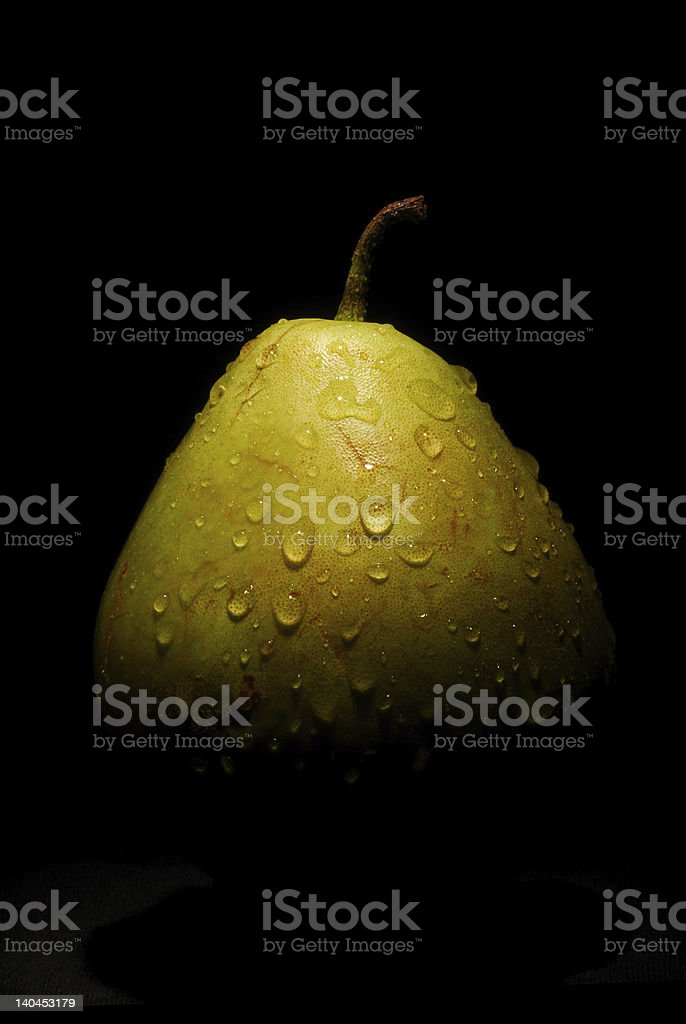 wet pear royalty-free stock photo