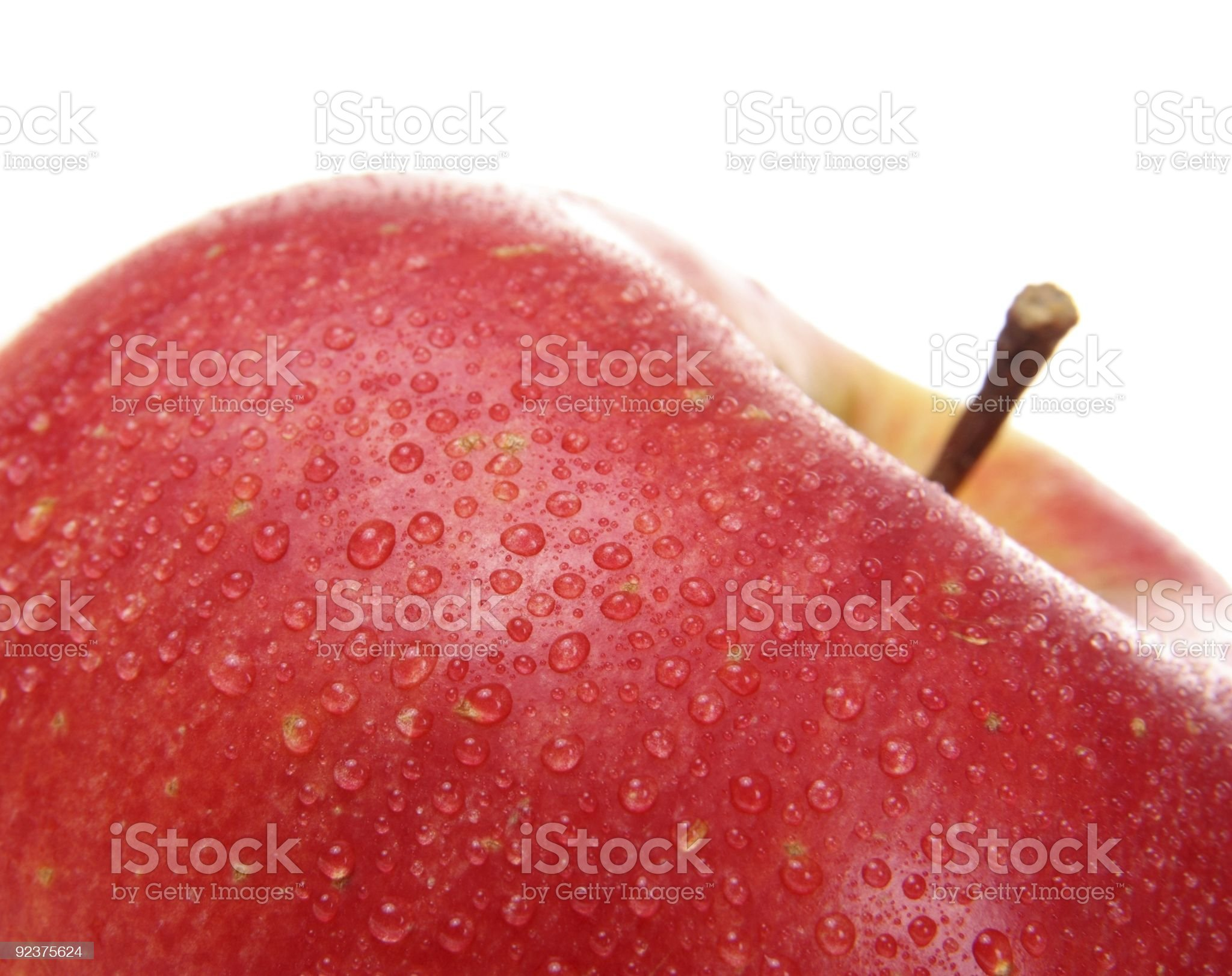 wet red apple royalty-free stock photo