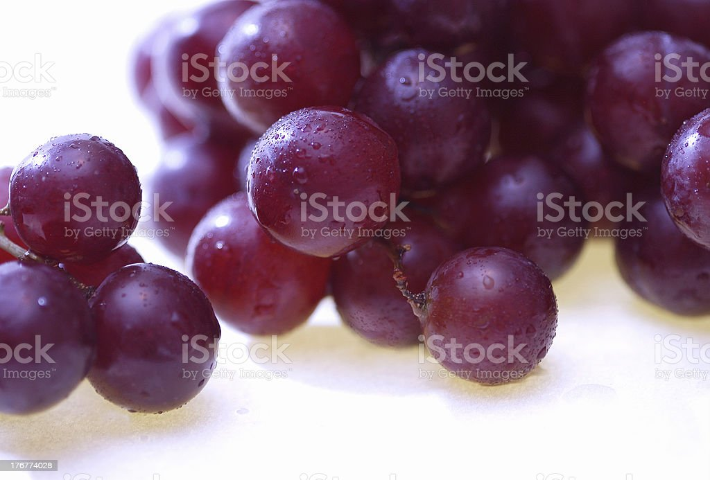 Wet red grapes 1 royalty-free stock photo
