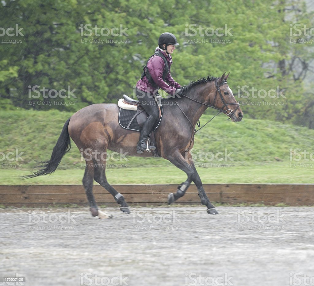 Wet riding royalty-free stock photo
