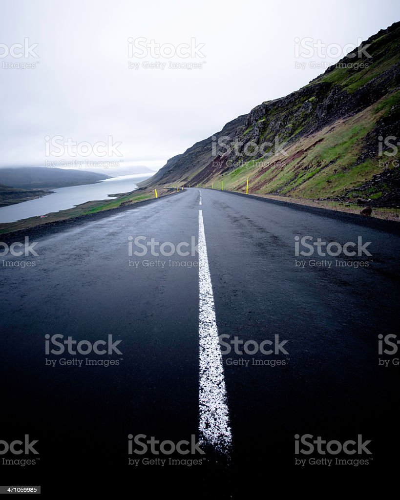 Wet Road royalty-free stock photo
