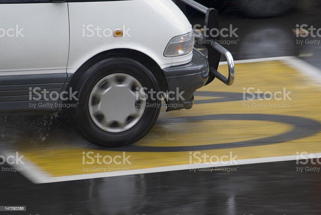 wet roads stock photo