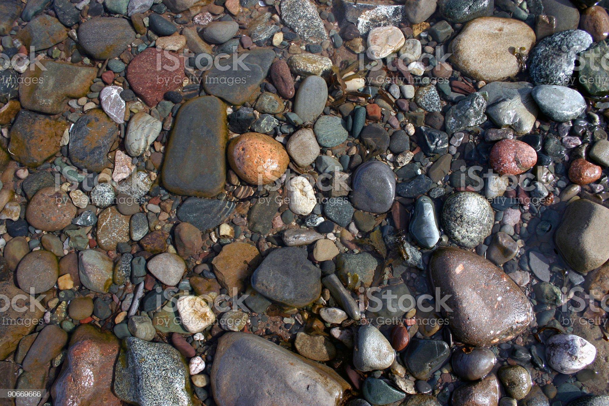 Wet Rocks royalty-free stock photo