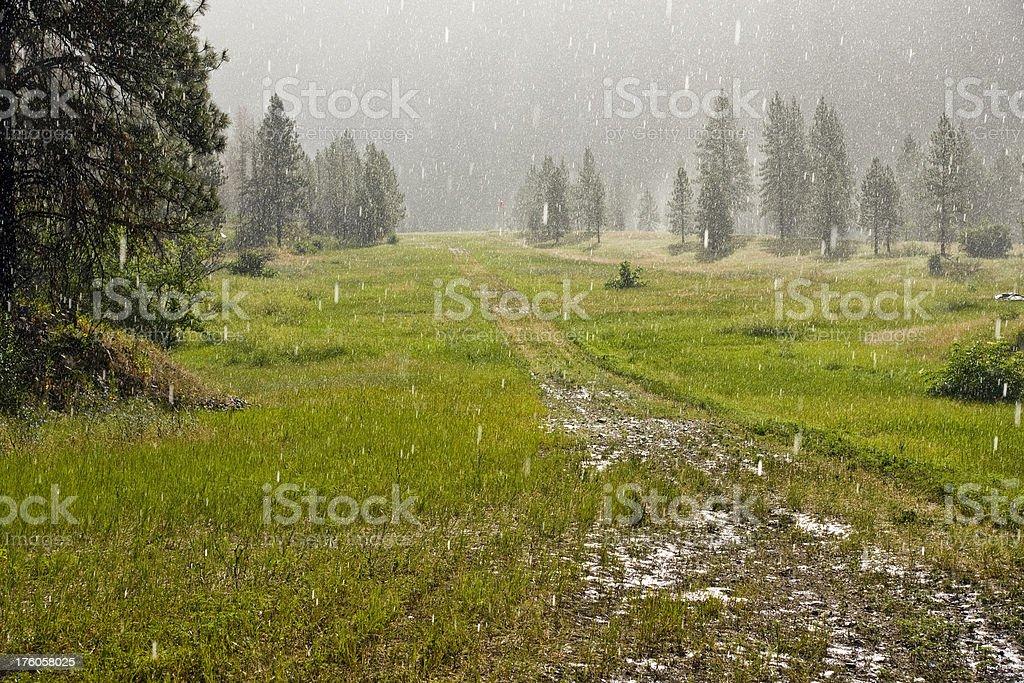 Wet Runway royalty-free stock photo