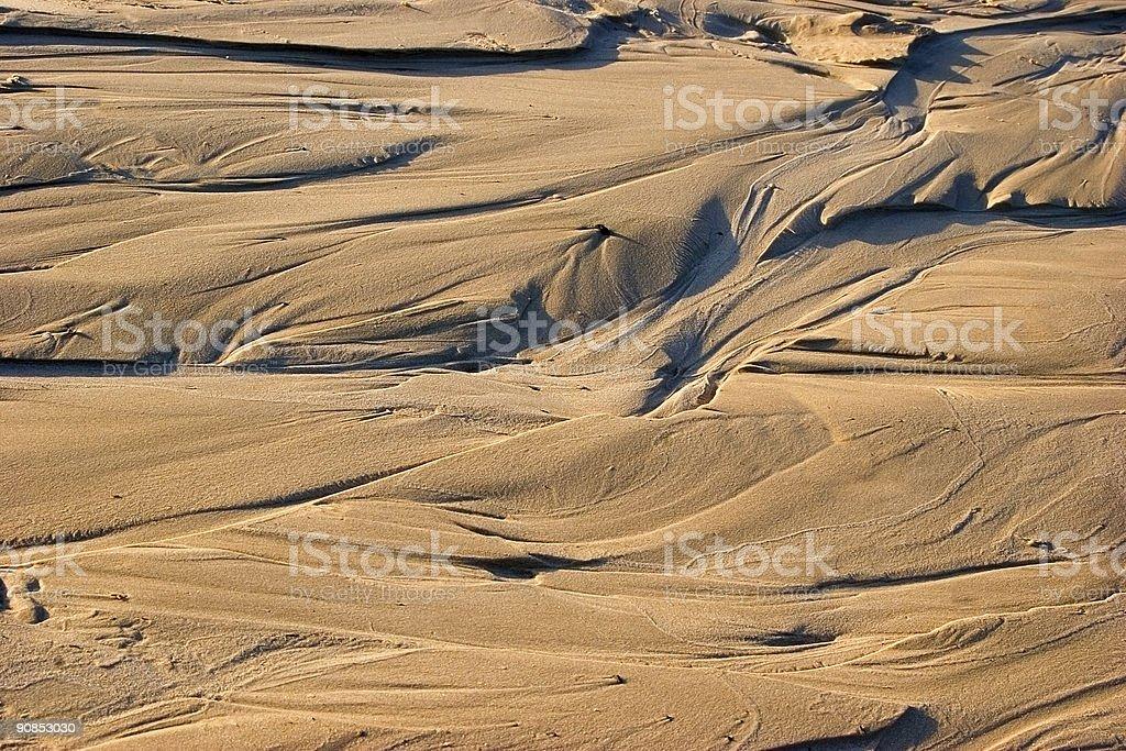 Wet sand stock photo