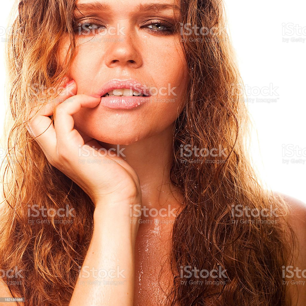 wet sexy woman royalty-free stock photo