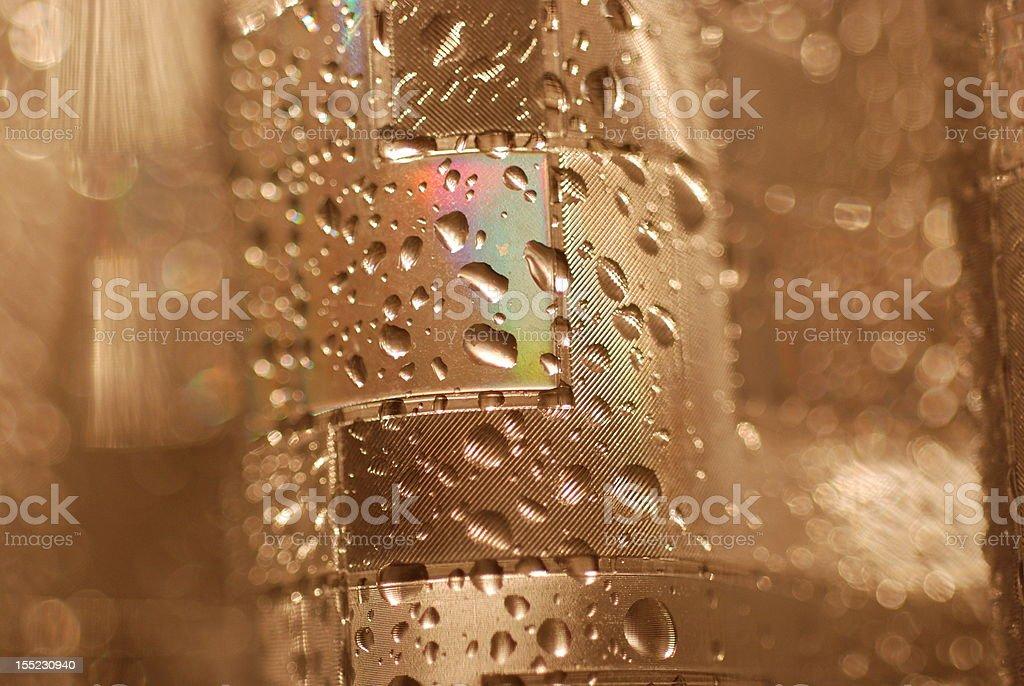 Wet Shower Curtain in Dim Light stock photo