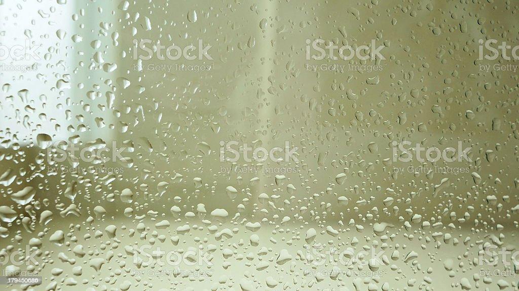 Wet shower mirror royalty-free stock photo