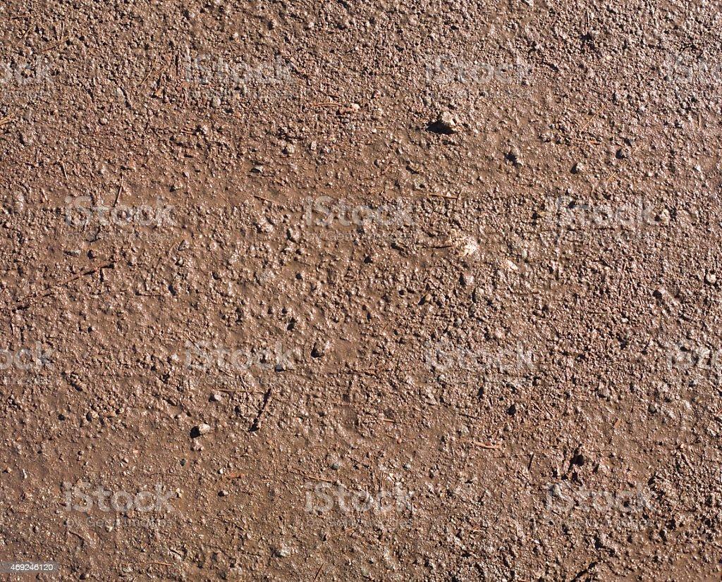 Wet soil textured surface stock photo