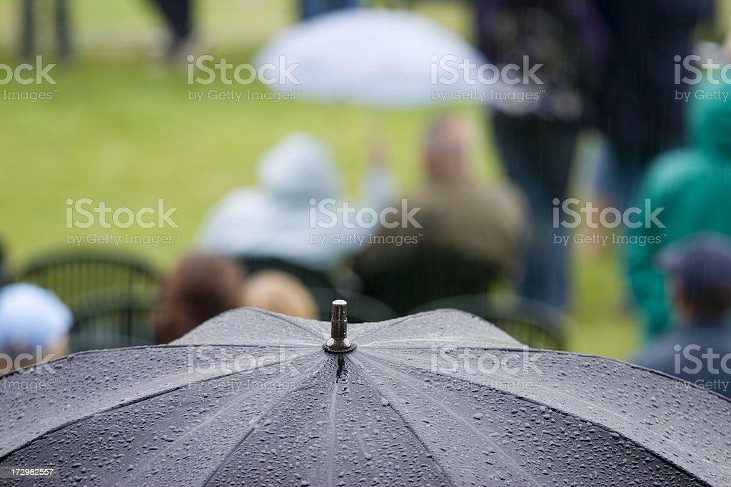 Wet Spectators royalty-free stock photo