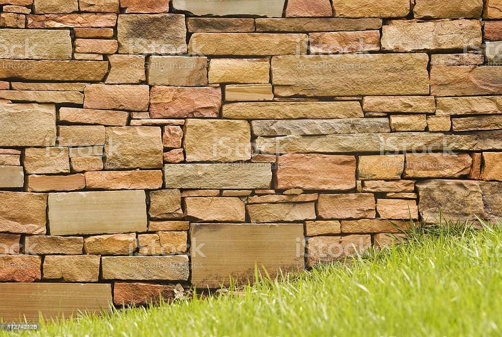 Wet Stone Wall After Spring Rain (XXL) royalty-free stock photo