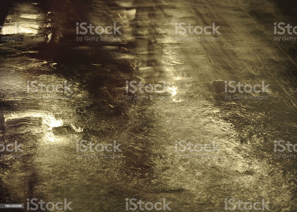 Wet street in light background royalty-free stock photo