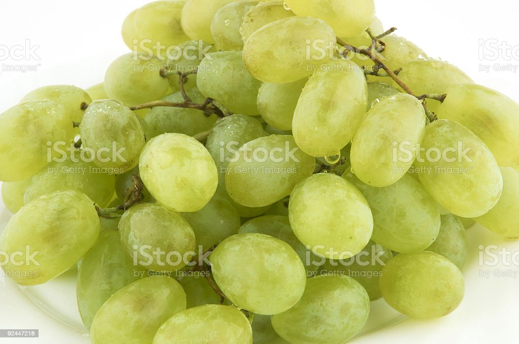 wet sweet grapes stock photo