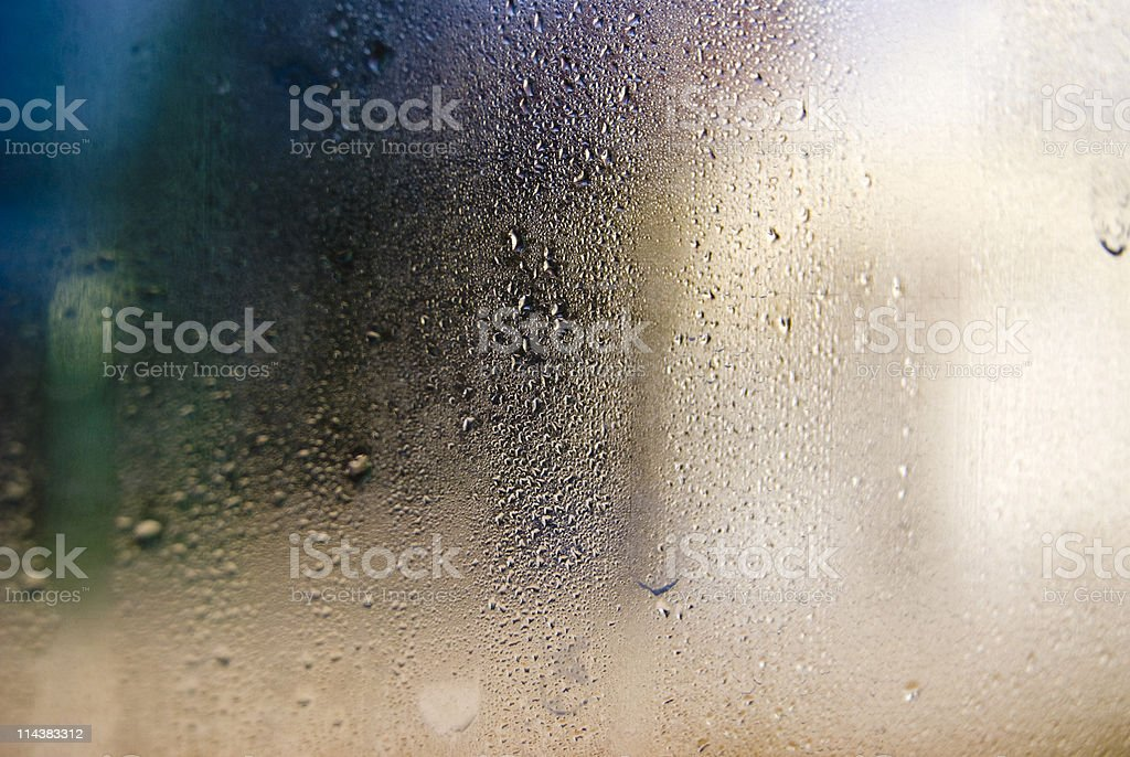 wet window royalty-free stock photo