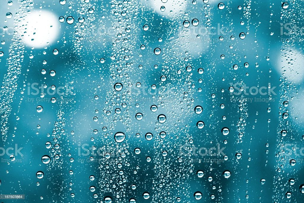 wet window water drops background stock photo