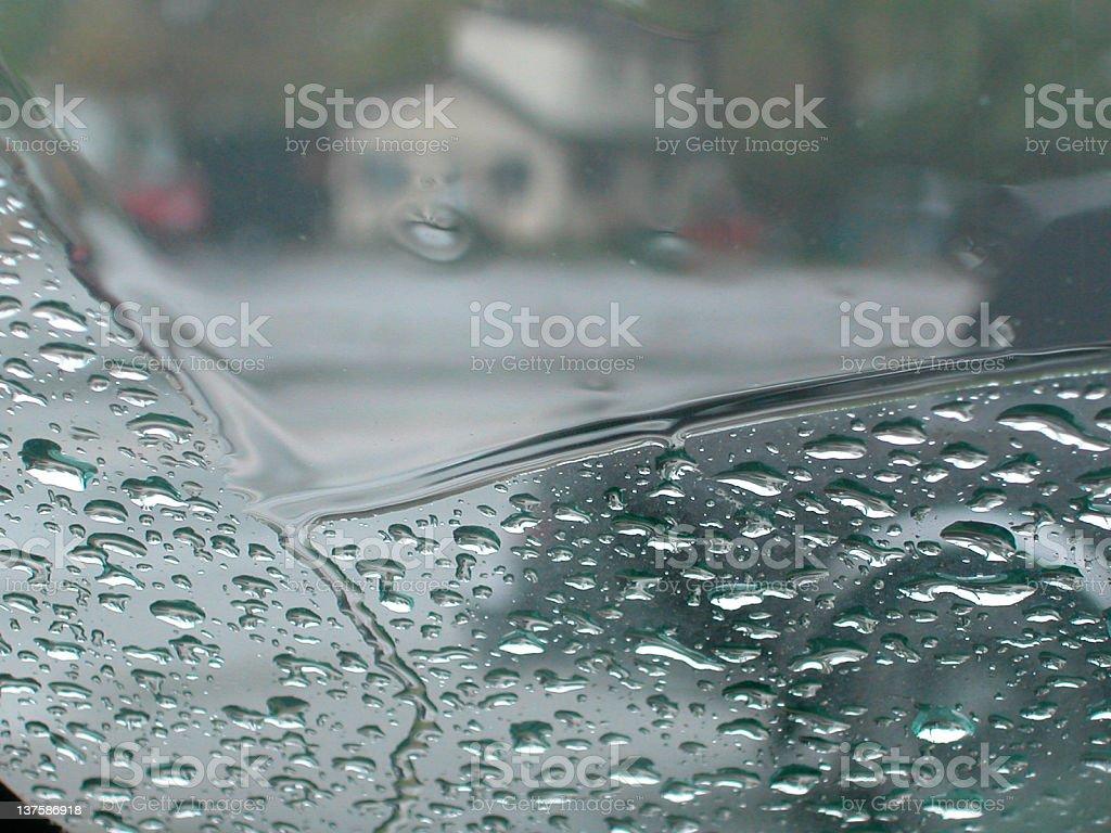Wet Windshield stock photo